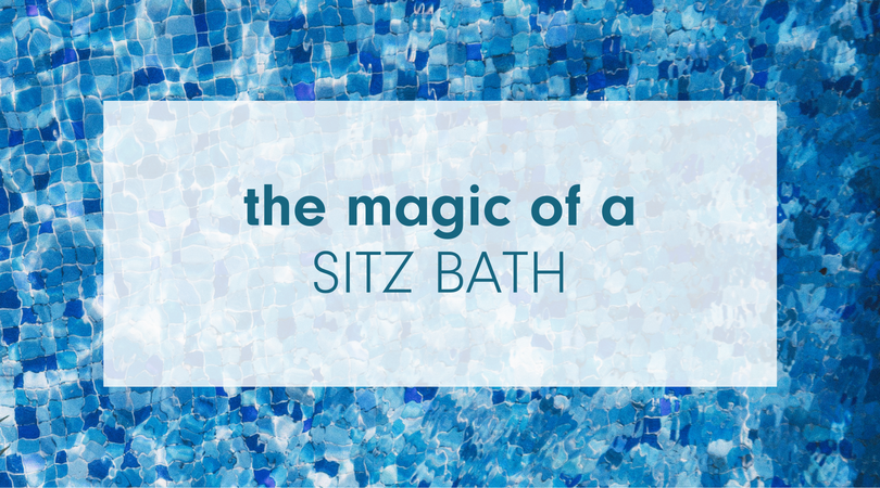 The Magic of a Sitz Bath and why we recommend it | mama bird box | gifts for pregnant women