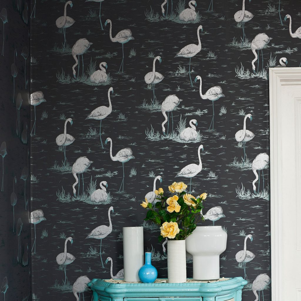 Image of Best Nursery Wallpaper - Cole and Son Flamingos Wallpaper - Mama Bird Box - Gifts for Pregnancy